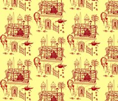 The Girl Who Knew Too Much fabric by emanuelletomato on Spoonflower - custom fabric The Girl Who, Surface Design, Custom Fabric, Spoonflower, Mystery, Challenges, Digital, Wallpaper, Prints