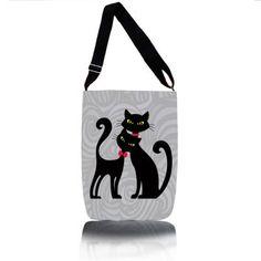 Kabelka přes rameno - Černé kočky