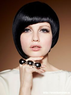 Cute Black Hairstyles With Bangs ~ http://wowhairstyle.com/cute-black-hairstyles/