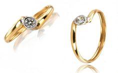 Zlatý dámsky zásnubný prsteň