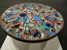 LEE KRASNER, mosaic table