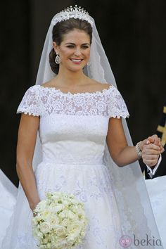 The delicate fringe tiara was a favourite of Princess Madeleine's and was worn…