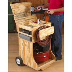 Woodworking Ideas For Kids Compressed Air Work Station Woodworking Plan Workshop & Jigs Shop Cabinets Storage & Organizers Ideas For Kids Compressed Air Work Station Woodworking Plan Workshop & Jigs Shop Cabinets Storage & Organizers Easy Woodworking Projects, Popular Woodworking, Woodworking Bench, Woodworking Shop, Woodworking Classes, Woodworking Basics, Woodworking Machinery, Woodworking Jigsaw, Woodworking Workshop