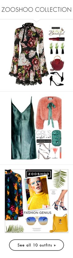"""""""ZOOSHOO COLLECTION"""" by amethyst0818 ❤ liked on Polyvore featuring Nicholas, Chloé, Wall Pops!, LSA International, Bobbi Brown Cosmetics, dressy, beautiful, dress, zooshoo and Leka"""