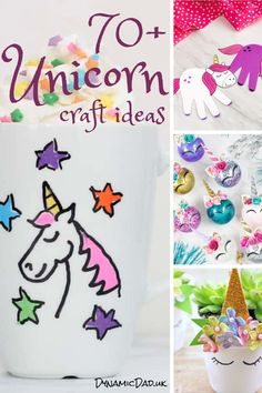 Adorable and easy unicorn crafts and ideas for all ages including toddlers to teens and adults! Even seasonal unicorn crafts are included - Christmas, Easter Halloween. Unicorn Hobby Horse, Unicorn Egg, Unicorn Pumpkin, Unicorn Wall Art, Unicorn Pillow, Unicorn Party, Crafts To Make, Crafts For Kids, Unicorn Pencil Case