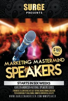 A straight line to getting your own speaking career off the ground.