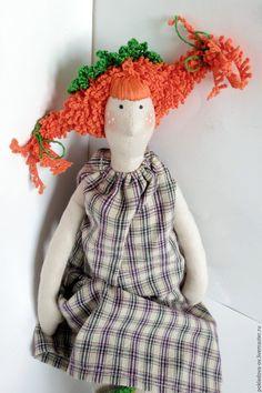 Купить Кукла в стиле Тильда Пеппилотта Виктуалия Рульгардина Крисминта Эфраи - рыжий