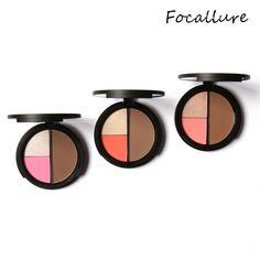 2017 Hot  Repair Capacity Tri-color Powder Blush To Brighten The Shadow Highlight contour Outline maquiagem Tools Mar23