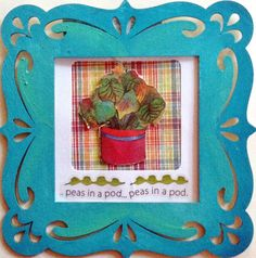 Small Decorative picture frame with cutouts by Artbyjpennington