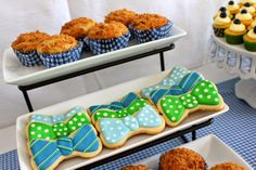 Bow tie cookies :) House of Hydrangeas: Southern Gentleman Baby Shower