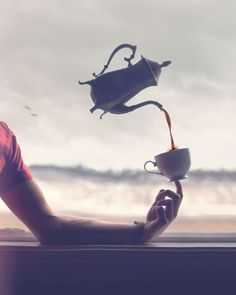 Magic Coffee Sunday Rituals by Boy_Wonder Levitation Photography, Surrealism Photography, Photoshop, Fun Fotos, Creative Photography, Art Photography, Flying Photography, Photography Tricks, Exposure Photography
