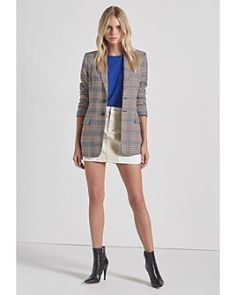 Current/Elliott The Calla Glen Plaid Blazer Women - Bloomingdale's Plaid Blazer, Flannel Jacket, Plaid Coat, Blazers For Women, Jackets For Women, Faux Shearling Coat, Glen Plaid, Printed Blazer