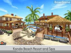 Kanda Beach Resort and spa  Found in TSR Category 'Sims 3 Community Lots'