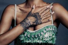 tattoo, rihanna, and hand image