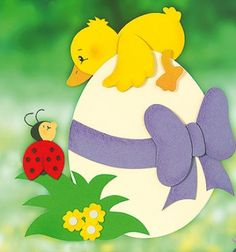 Spring-Easter duck and ladybug window paper decor (free template) Birthday Chart Classroom, Birthday Charts, Paper Crafts For Kids, Hobbies And Crafts, Easter Gift, Easter Crafts, Cute Ducklings, Decoration Vitrine, Construction Paper Crafts