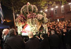 Faithful celebrate Greek Orthodox Great Friday with procession