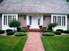 Schöne Vorgärten schöner vorgarten mit niedrigen grünen pflanzen gestalten ein pfaden