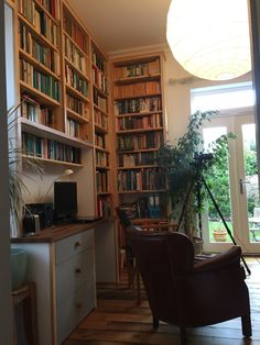We created this library/study for a customer in Islington, to house a large book and CD collection. It's now a beautiful space to read, study or just relax in. #library #bookshelf #custombuilt #handmade #study #handcrafted #bespokedesign