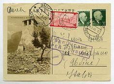 C 11/8, 5 q. Turistica, Kumbonare - agg. 5 q. da Tirane 5.5.41 a Udine via aerea con agg. 5 q.   PA 15 q. - Censure.