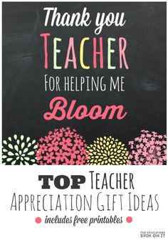 Teacher Gift Idea and Printable from The Educators' Spin On It