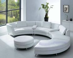 Curved sofas are popular and stylish furniture that allows to create unique, comfortable and modern living room designs in round and rectangular living spaces