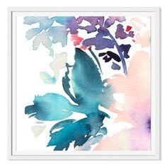Karma 'Abstract Botanical Watercolor' Canvas Gallery Wrap