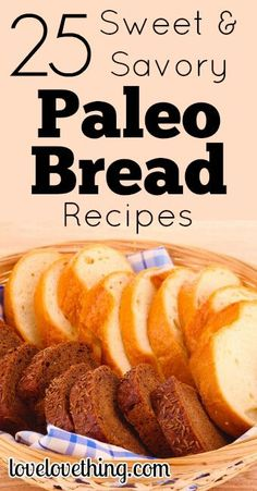 Yes, you can still enjoy bread on the Paleo Diet! Take a look at these 25 Sweet & Sour Paleo Bread recipes and see which you want to try first!