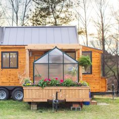 Mobile Tiny Home Comes Equipped with Its Own Detachable Green House