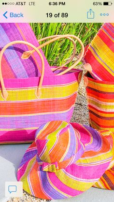 Shebobo straw hats and bags