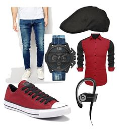 """I tried"" by darrick-howard-ii on Polyvore featuring Pepe Jeans London, Converse, Diesel, Beats by Dr. Dre, men's fashion and menswear"