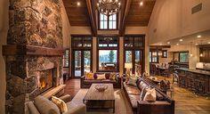 O fireplace, ceiling, floor  Martis_Camp_Custom_Home_413-7