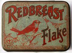 Ogden's Redbreast Flake Tobacco tin by Tinternet on Etsy