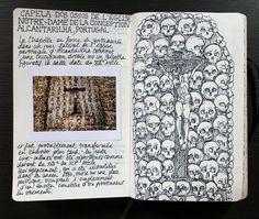 Capela dos ossos - Dessins : Charlotte Cornaton