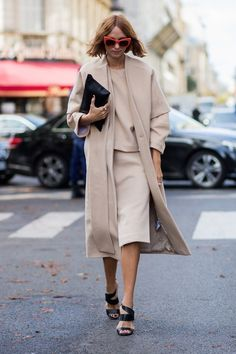 cold weather winter interview outfit camel skirt coat