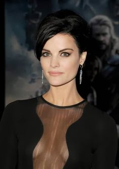Jaimie Alexander's makeup for the Thor: The Dark World premiere