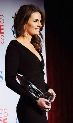 Stana Katic - pretty dress