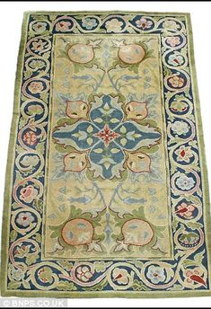William Morris rug being sold in Arts & Crafts auction in the UK.