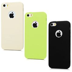 iPhone SE Case iPhone 55S Case YOKIRIN 3 Pieces Full Matte Soft Touch SlimFit Ultra Hybrid Air Cushion Premium Flexible Soft TPU  Extra Grip Gel Silicone Case Black  Cream Color  Yellow ** Click on the image for additional details. Note: It's an affiliate link to Amazon.