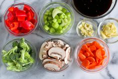 """How to use """"mise en place"""" for easy meal prep ....Let's get the obvious question out of the way. What the heck is """"mise en place""""? It's a fancy French cooking term that means """"putting in place."""" It's simply the organization of ingredients that you..."""