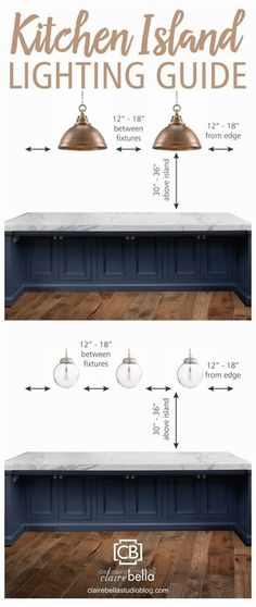 Cool awesome Kitchen Island Lighting Guide. How many lights? How big? How high? How far apart… by www.best100homede… The post awesome Kitchen Island Lighting Guide. How many lights? How bi ..
