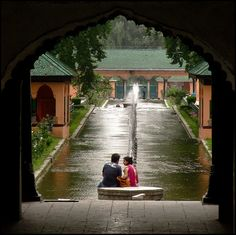 Shalimar Baghis a Mughal garden linked through a channel to the northeast of Dal Lake, near Srinagar