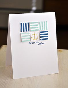Out To Sea Revisited - You're My Anchor Card by Maile Belles for Papertrey Ink (May 2013)