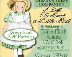 Edith Flack Ackley Vintage 16 Doll Pattern A by eVINTAGEpatterns