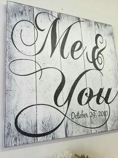Me and You Pallet Sign Rustic Chic Wedding Shabby Chic Wedding Anniversary Gift Vintage Wood Sign Rustic Wall Art Pallet Art Handpainted - Home Decorations Shabby Chic Bedrooms, Shabby Chic Homes, Shabby Chic Furniture, Bedroom Furniture, Shabby Chic Signs, Rustic Bedrooms, Entryway Furniture, Western Furniture, Kitchen Furniture