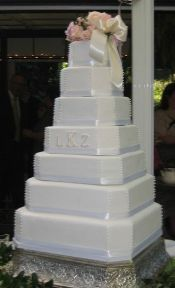 6 tier square wedding cake - Google Search