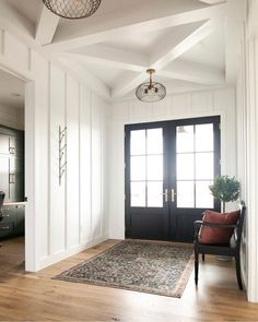 131 easy and simple modern farmhouse design ideas 94 Home Interior, Modern Interior Design, Home Design, Design Ideas, Kitchen Interior, Modern Farmhouse Style, Farmhouse Design, Farmhouse Ideas, Farmhouse Decor