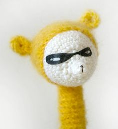 knitted masked toy