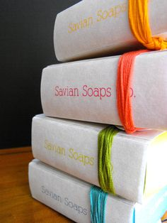 Soap Packaging by Lauren Rogers, via Behance(sans )