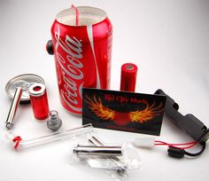 Everything you need to start vaping. Introducing the Coke Can Mod, from Karen of Sin City Mods... a custom coke can outfitted to vape from! The can mods ar