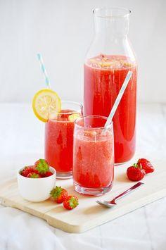 Elodie's Bakery: Watermelon and strawberry lemonade | Limonade à la pastèque et aux fraises